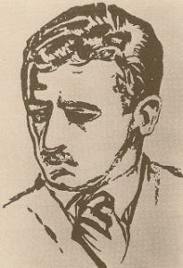 Drawing of William Faulkner by William Spratling
