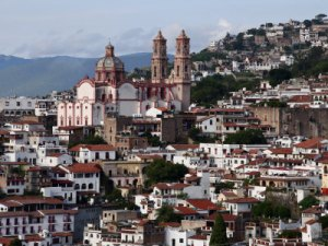 The town of Taxco de Alarcon, Mexico