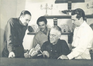 Spratling and his assistants at his studio